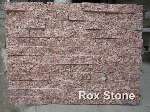 Peach Red Quartzite Cultural Stone Panel