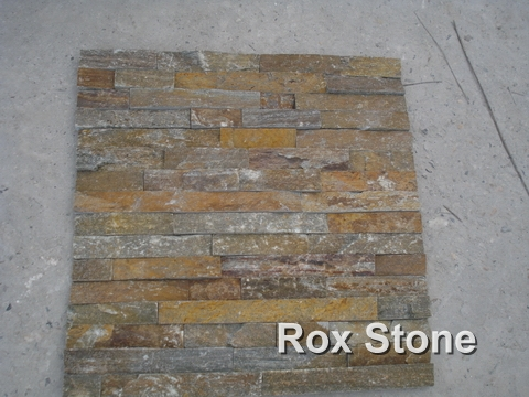 Rough Surface Rusty Quartzite Stacked Wall Stone